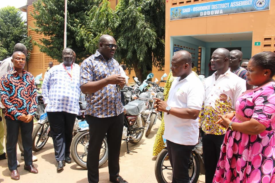 Donation of Motorbikes to Assembly Members.