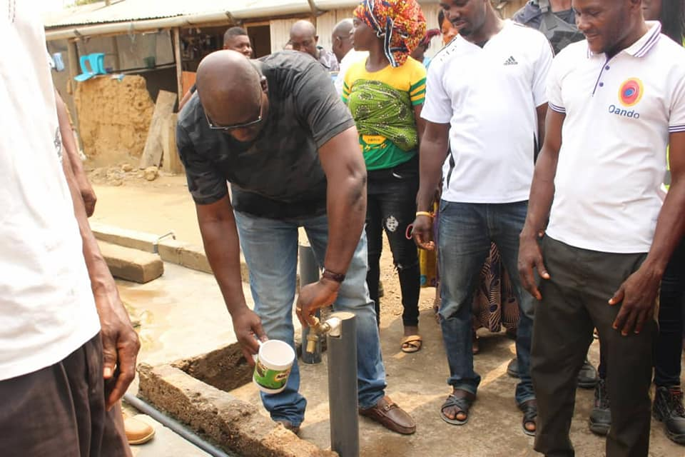 District Chief Executive of SODA Commissions 3 Boreholes in the District