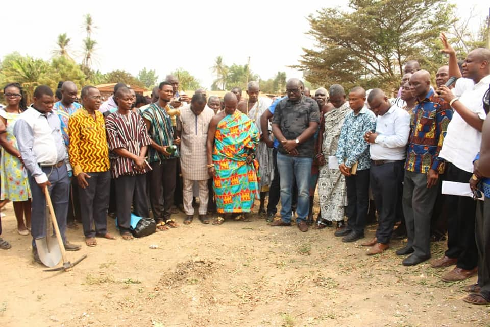 Sod Cutting of the Construction of Water Station,  Shai-Osudoku District, SODA
